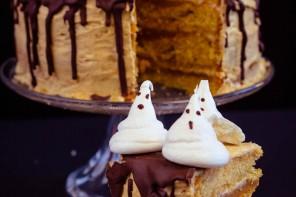 Le gâteau fantôme d'Halloween : vegan et terriblement bon